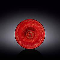 Тарелка глубокая Wilmax Spiral Red 800мл d20 см фарфор (669222 WL)