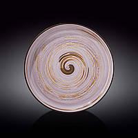 Тарелка с вертикальным бортом Wilmax Spiral Lavander d28 см фарфор (669720 WL)