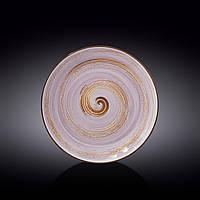 Тарелка обеденная Wilmax Spiral Lavander d25,5 см фарфор (669714 WL)