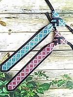 Краватка шкільний із репсової стрічки національної забарвлення, фото 1