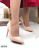 Женские туфли на каблуке замшевые, фото 2