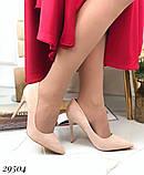 Женские туфли на каблуке замшевые, фото 4