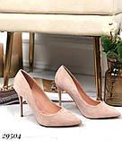 Женские туфли на каблуке замшевые, фото 5