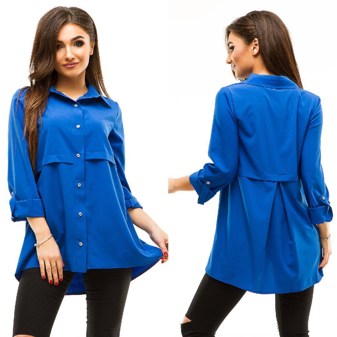 Женская блузка - туника 283 жан