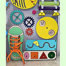 Развивающая доска размер 40*50 Бизиборд для детей 27 элементов!, фото 3