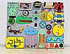Развивающая доска размер 40*50 Бизиборд для детей 27 элементов!, фото 6