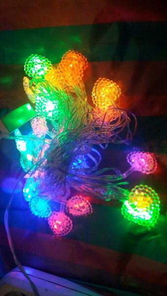 Гирлянда светодиодная листья (LED) 30 л