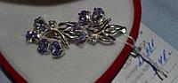 Серебряные серьги 925 пробы с голубым цирконом, фото 1