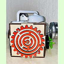 Бизикубик 10*10*10 на 12 элементов - развивающий кубик, бизиборд, бизидом, бизикуб, миникуб, фото 2
