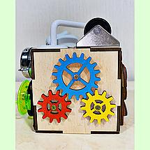 Бизикубик 10*10*10 на 12 элементов - развивающий кубик, бизиборд, бизидом, бизикуб, миникуб, фото 3