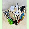 Бизикубик 10*10*10 на 12 элементов - развивающий кубик, бизиборд, бизидом, бизикуб, миникуб, фото 4