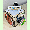 Бизикубик 10*10*10 на 12 элементов - развивающий кубик, бизиборд, бизидом, бизикуб, миникуб, фото 6