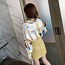 Свободная тонкая объемная шелковая блузка с длинным рукавом, фото 3