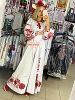 Жіноча вишита сукня в стилі Бохо. Жіноча вишиванка.