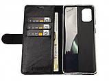 Кожаный чехол-книжка Valenta для Samsung Galaxy A71 Черный (124111sga71t), фото 4