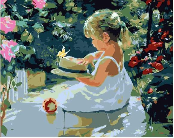 Дівчинка в саду