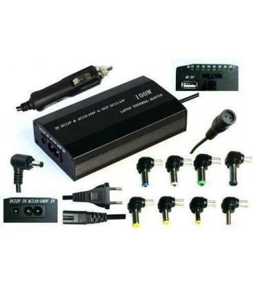 FrimeCom LD-2in1 100W Універсальний (автомобільний) (110-240В, 12-24В, 4А, 8 перехідників, USB 5В)