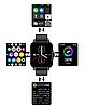 Наручные смарт-часы Lemfo FM 08 Black  умные часы с измерением давления, фото 4