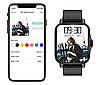Наручные смарт-часы Lemfo FM 08 Black  умные часы с измерением давления, фото 2