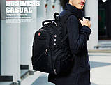 Вместительный рюкзак с жесткой спинкой. Черный. + Дождевик. 35L / s8810-3 black, фото 2