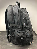 Вместительный рюкзак с жесткой спинкой. Черный. + Дождевик. 35L / s8810-3 black, фото 9