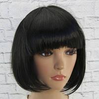 Парик из искусственных волос каре (черный)