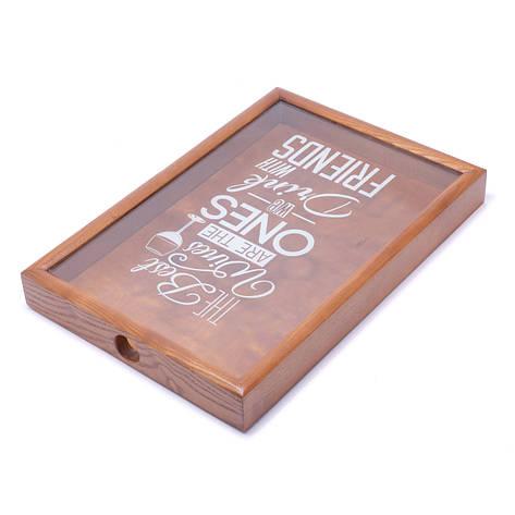 Копилка для винных пробок 250013 48х33х5,5 см. орех Best wines, фото 2