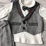 Детский нарядный костюм на мальчика 708. Размер  80 с, фото 3