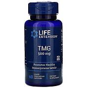 Триметилглицин, ТМГ, TMG, 500 мг, Life Extension, 60 вегетарианских капсул
