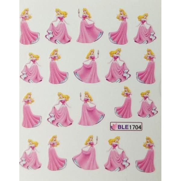 Слайдер дизайн для нігтів Мультики, принцеса