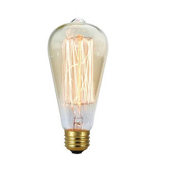 Лампа Едісона E27 ST64 40W 2700K Amber 220V