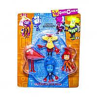 """Детский игровой набор фигурок METR+ """"Фиксики"""" (Симка/Нолик/Дедус/Жучка) для детей от 3 лет, 4 шт, разноцветный"""