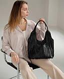 Женская сумка «Хелен» черная плетеная, фото 2