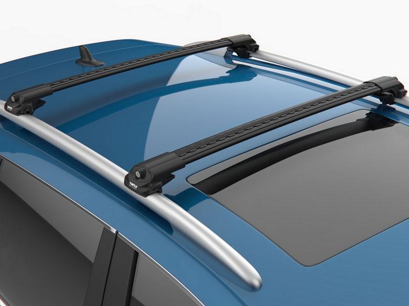 Багажник на крышу Peugeot Partner 2008- на рейлинги черный Turtle