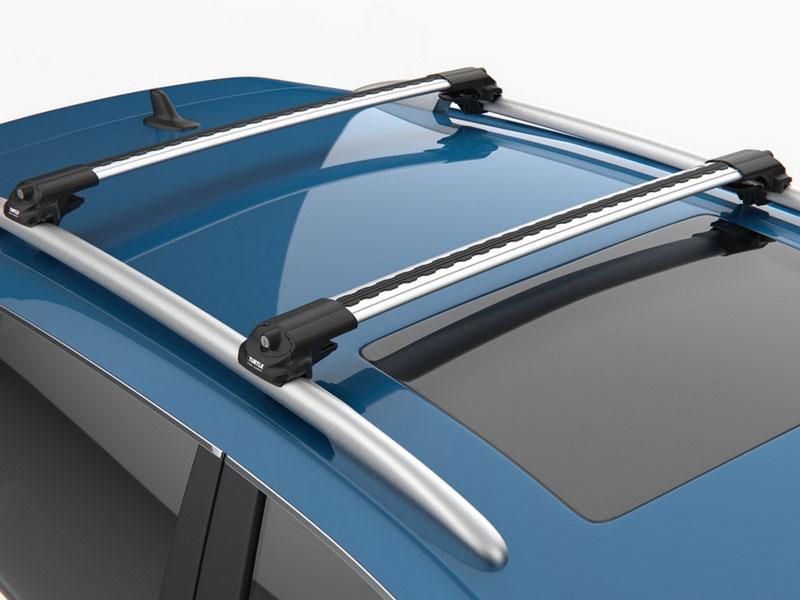 Багажник на крышу Peugeot 308 2008- на рейлинги серый Turtle