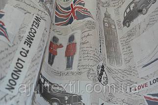 """Тюль печать """"Лондон"""", фото 2"""
