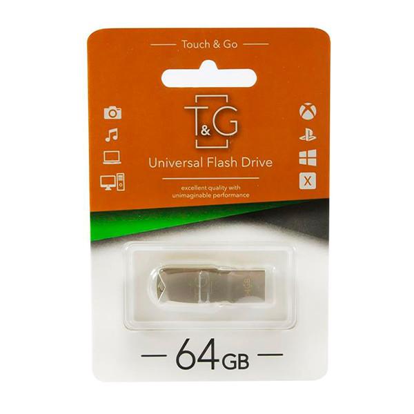 Флеш память 64 GB T & G 100 Metal Series Silver (TG100-64G)