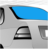 Стекло задние XYG Dacia / Renault Logan седан фаза 1/2