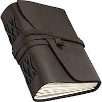 Блокнот кожаный COMFY STRAP А5 14.8 х 21 х 4 см Чистый лист Темно-коричневый (023)