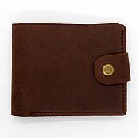Кошелек кожаный мужской с монетницей Коричневый (026)