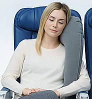 Подушка для подорожей надувна вертикальна Travelrest Сірий (978-02)