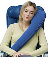 Подушка для подорожей надувна вертикальна Travelrest Синій (978-02b)