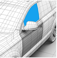 Стекло дверное переднее левое XYG Dacia Logan седан, универсал фаза 1/2