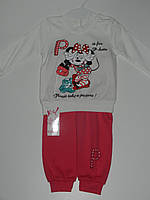 Демисезонный костюм детский для девочки с Минни трикотаж рр. 6-12 месяцев Турция