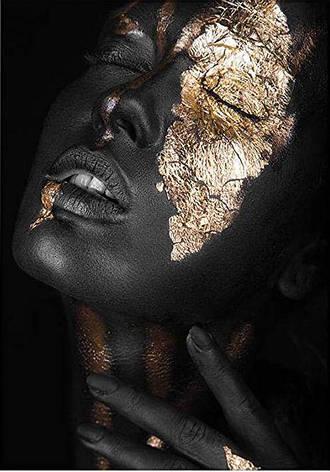 Картина за номерами VA-2682 Дівчина в золоті , 40х50 см Strateg, фото 2