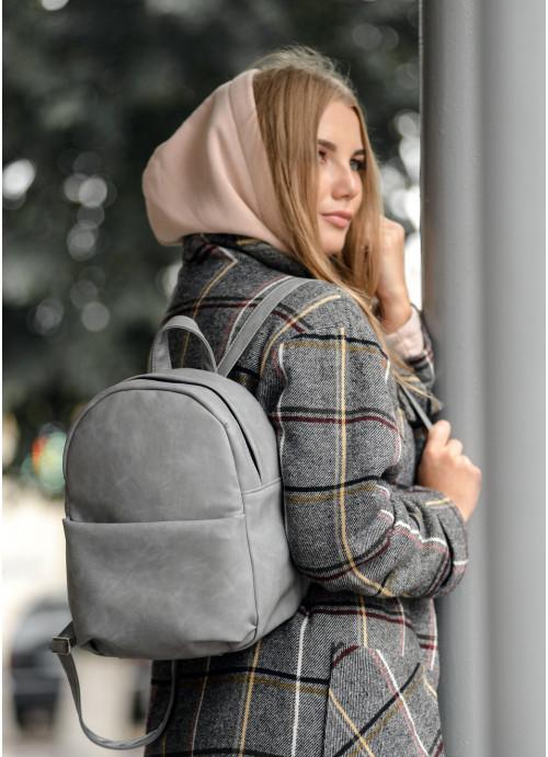 Жіночий рюкзак Sambag Brix KQH світло-сірий нубук