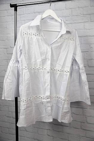 Пляжная рубашка-платье белое, фото 2