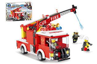 Конструктор Пожарная машина водомет Сити 80529, 278 дет, пожарная серия