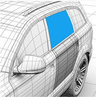 Стекло дверное заднее левое XYG Dacia Logan седан фаза 1/2, Logan 2