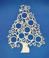 Дерево (Елка) ажурное или семейное древо заготовка для декора